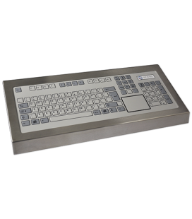 Clavier Industriel Inox 105 touches + Touchpad