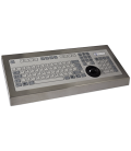 Clavier Industriel Inox 105 touches + Trackerball